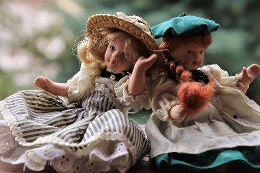 Doll, Toy, Hat, Dress, She, Loki, Retro