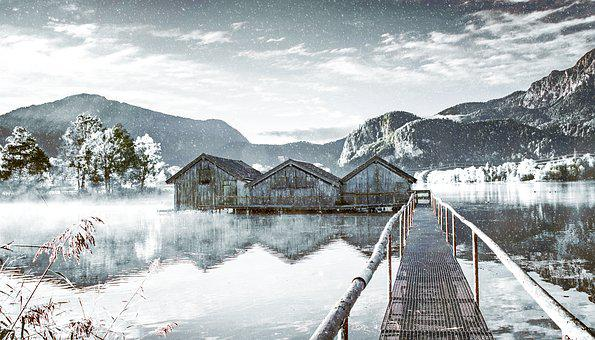 Lake, Boat House, Water, Nature, Landscape, Web, Waters