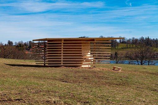 Architecture, Wood, Sky, Bavaria, Spring, Tegernsee