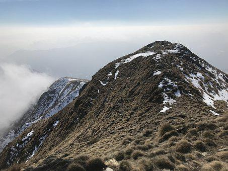 View From Mount Faierone, Alpine Route, Alps, Alpine