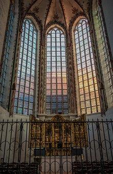 Church, Altar, Shrine, Window, Church Window, Religion