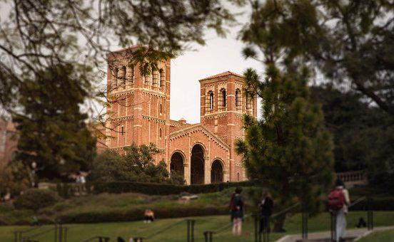 College, Ucla, California, America, Castle, School