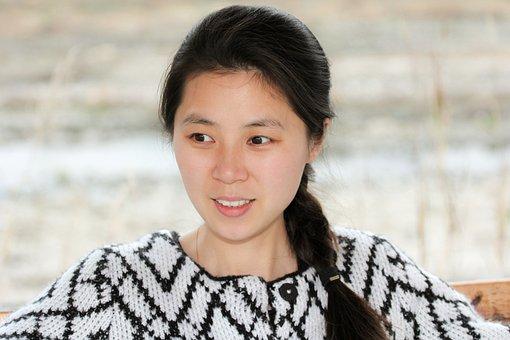 Girl, Model, Chinese Girl, Black Hair, Aisan Girl