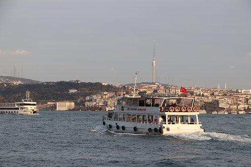 Istanbul, Throat, Camlica, Boat, V, Ship, Cami, Turkey