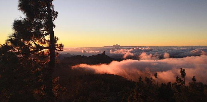 Sunset, Canary Islands, Tenerife, Sky, Vacations, Spain