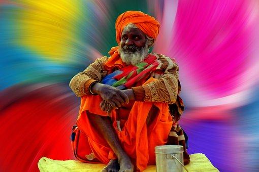Sadhu, Color, Colorful, Hdr, Background, India, Hindu