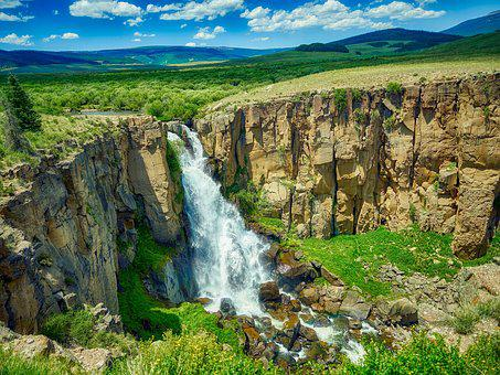 North Clear Creek Falls, Colorado, Landscape, Mountains
