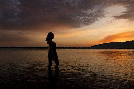 Sunrise, Model, Sunset, Woman, Copyright, Portrait