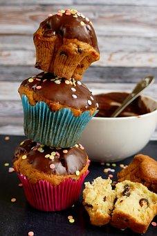 Muffins, Cupcakes, Cake, Dessert, Sweet, Cupcake, Bake