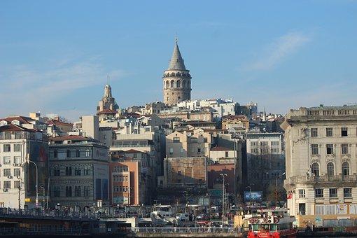 Galata Tower, Galata, Tower, On, Beyoğlu, Istanbul