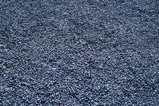 Japanese Pebbled Courtyard, Grey Pebbles, Texture