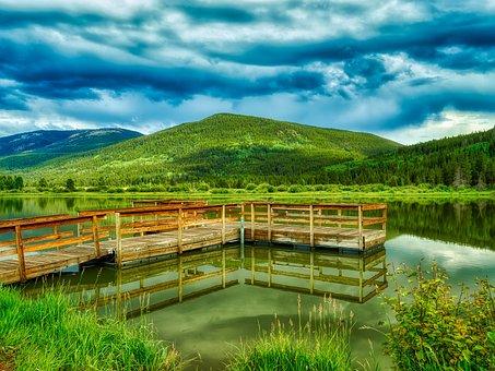 Lake, Pond, Colorado, America, Landscape, Scenic