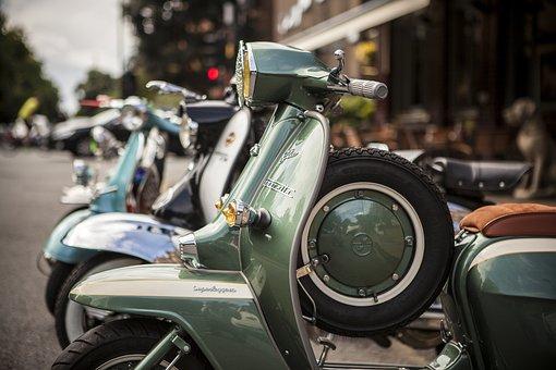 Scooter, Moped, Vehicle, Vespa, Motorbike, Motor
