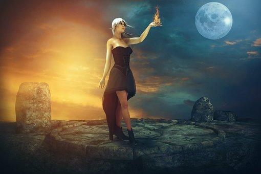 Fairytale, Fantasy, Dream, Mystical, Night, Day, Fire
