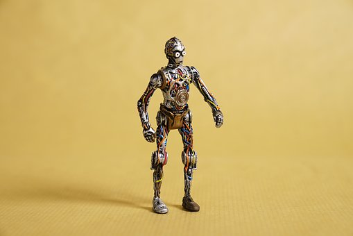 Anime Figurine, Star Wars Character, Naked Robot