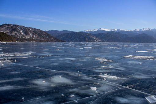 Ice, Lake, Nature, Mountains, Landscape, Frost