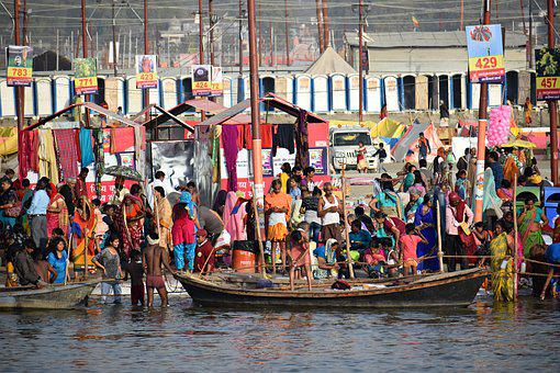 Kumbh, Pragraj, Crowd, People, India, Culture, Portrait