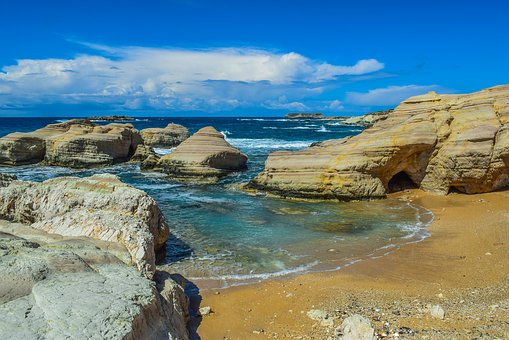 Beach, Sand, Rocky Coast, Rock, Formation, Nature