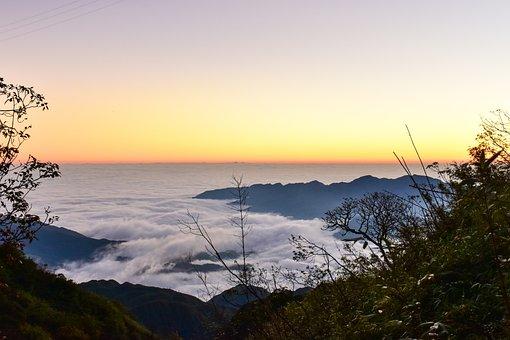Clouds, Sunrise, Sky, Landscape, Horizon, Sun