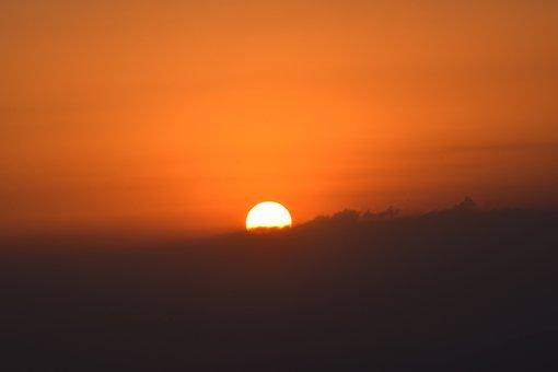 Sunset, Sky, Sun, Clouds, Day, Nature, El Salvador, Fly