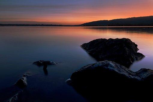 Sunset, Sunrise, Lake Constance, Sunset Sunrise