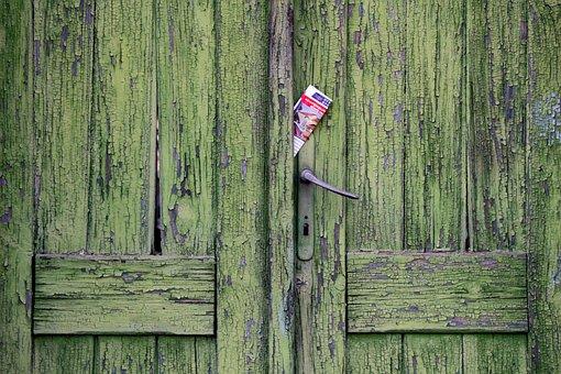 Vintage Door, Newspaper, Rustic, Old, Vintage, Door