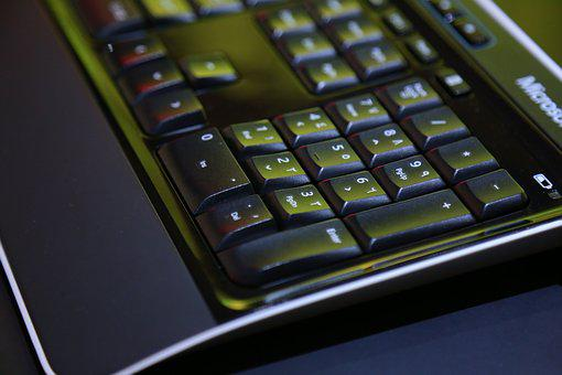 Black Color Computer Keyboard, Abstract