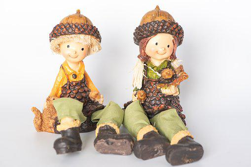Imp, Figures, Autumn, Autumn Decoration, Dwarfs, Small