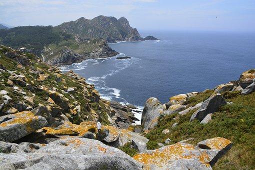 Islands, Cíes, Galicia, Beach, Sea, Landscape, Sky