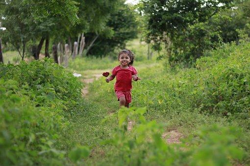 Happy Child, Child Running, Child, Happy