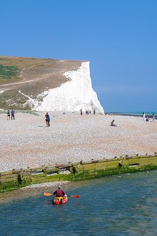 Sea, Kayak, Paddle, Coast, Rock, Cliff, Cliffs