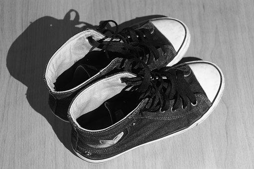 Shoes, Used, Worn, Cloth Shoes, Converse, Teen
