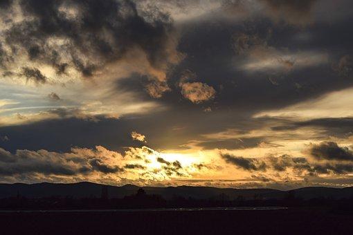 Clouds, Dramatic, Mood, Sunset, Nature, Landscape