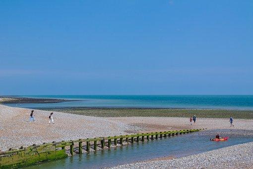 Sea, Ebb, Coast, Beach, Canoeing, Paddle, Water
