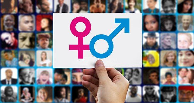 Equality, Male, Female, Symbol, Photomontage, Faces