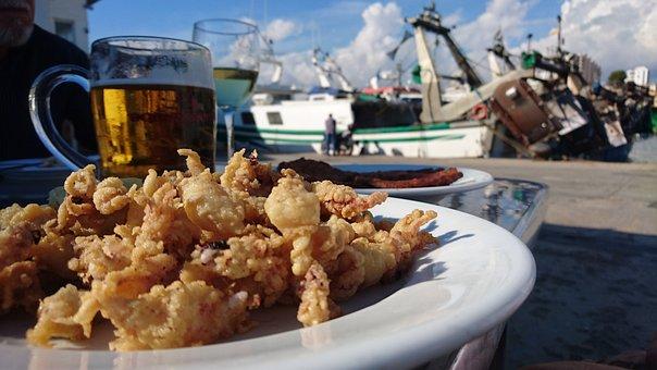 Mediterranean Cuisine, Squid, Beer, Fishermen