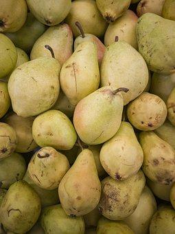 Pear, Yellow, Market, Fruit, Food, Sunday, Fresh