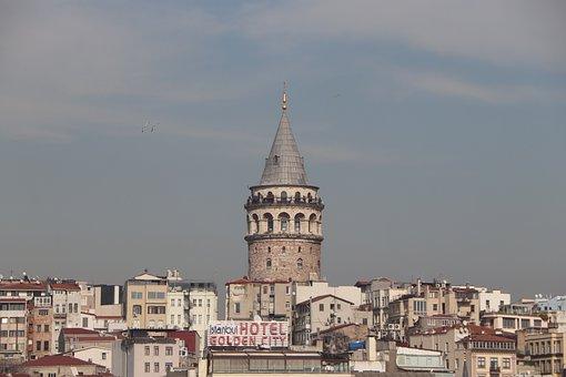 Galata, Cami, Beyoğlu, Taksim, Istanbul, Turkey, Sky