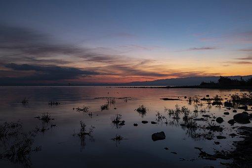 Sunrise, Sunset, Lake, Lake Constance, Brine, Landscape