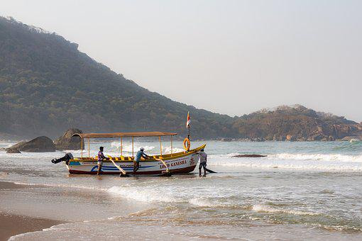 Boat, Ocean, Goa, India, Sea, Landscape, Water, Fishing