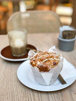 Muffin, Raspberry, White Chocolate, Delicious