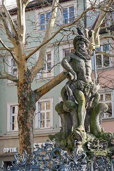 Bamberg, Neptunbrunnen, Still Image, Monument