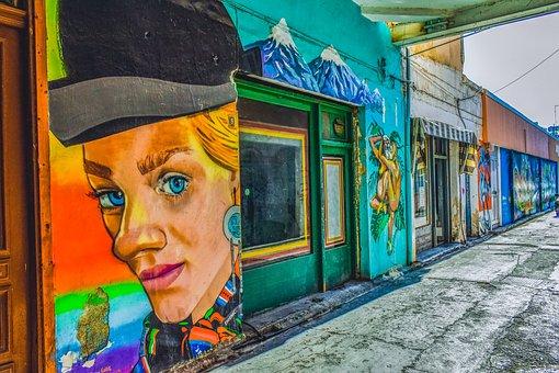 Street, Graffiti, Wall, Urban, Paint, Grunge, Colorful