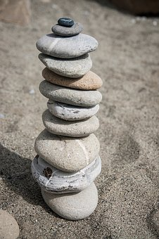 Stones, Stone Tower, Sand, Balance, Stacked
