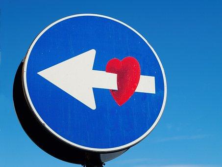 Sign, Hearth, Arrow, Signboard, Street, Roadsign
