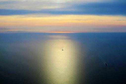 Istanbul, Marine, Solar, Reflection, Water, Sunset, Sky