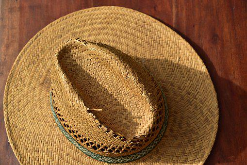 Hat, Straw Hat, Chair, Wood, Table, Background, Drop