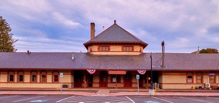 Train Station, Panorama, Laconia, New Hampshire