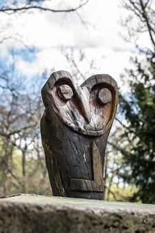 Owl, Plastic, Art, Sculpture, Statue, Wood