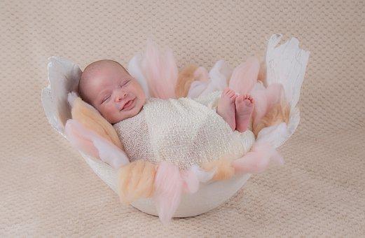 Bebe, Mould, Smile, Newborn, Portrait, Feet